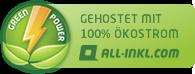 All-Inkl Hosting mit Oekostrom Banner