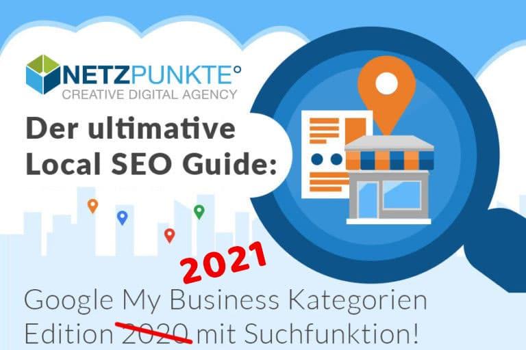 Google My Business Kategorien 2021 – komplett mit Suchfunktion